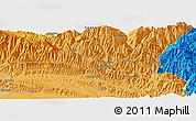 Political Panoramic Map of Yāngbel