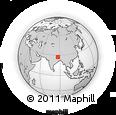 Outline Map of Sautang, rectangular outline