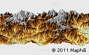 """Physical Panoramic Map of the area around 27°19'44""""N,86°46'30""""E"""