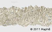 """Shaded Relief Panoramic Map of the area around 27°19'44""""N,86°46'30""""E"""