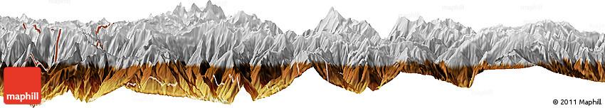Physical Horizon Map of Thimphu