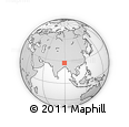 Outline Map of Thimphu, rectangular outline