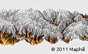 Physical Panoramic Map of Thimphu