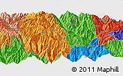 Political Panoramic Map of Thimphu