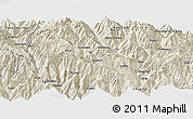 Shaded Relief Panoramic Map of Thimphu