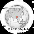 Outline Map of Duliajan, rectangular outline