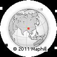 Outline Map of Nawvin, rectangular outline