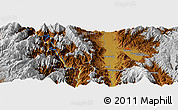 Physical Panoramic Map of Xichang
