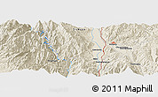 Shaded Relief Panoramic Map of Xichang