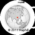 Outline Map of Dawan, rectangular outline