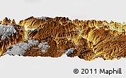Physical Panoramic Map of Dawan