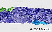 Political Panoramic Map of Dawan