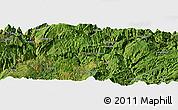 Satellite Panoramic Map of Dawan