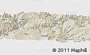 Shaded Relief Panoramic Map of Dawan