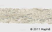 Shaded Relief Panoramic Map of Qinggang