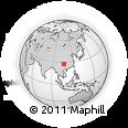 Outline Map of Houshan, rectangular outline