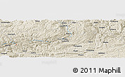 Shaded Relief Panoramic Map of Dalan