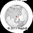 Outline Map of Ailong, rectangular outline