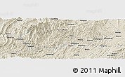 Shaded Relief Panoramic Map of Ailong