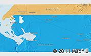 Political 3D Map of Bombas de Salinas