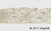 Shaded Relief Panoramic Map of Luqiao
