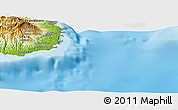 "Physical Panoramic Map of the area around 27° 48' 57"" N, 15° 13' 29"" W"