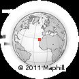 Outline Map of Amarilla Golf, rectangular outline