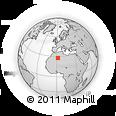 Outline Map of Algeria, rectangular outline