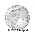 """Outline Map of the Area around 27° 48' 57"""" N, 47° 40' 29"""" E, rectangular outline"""