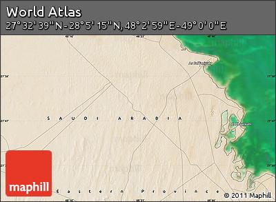 "Satellite Map of the Area around 27°48'57""N,48°31'29""E"