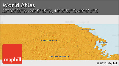 """Political Panoramic Map of the Area around 27°48'57""""N,48°31'29""""E"""