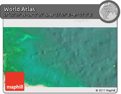 """Satellite 3D Map of the Area around 27°48'57""""N,49°22'30""""E"""