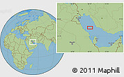 "Savanna Style Location Map of the area around 27°48'57""N,50°13'30""E"