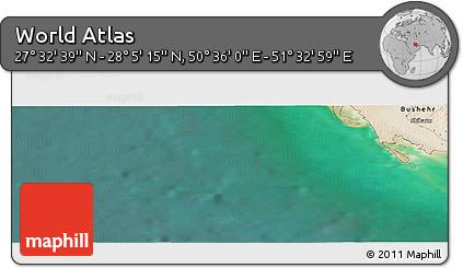 "Satellite Panoramic Map of the Area around 27°48'57""N,51°4'30""E"