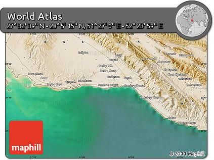 "Satellite Map of the Area around 27°48'57""N,51°55'29""E"