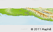 """Physical Panoramic Map of the area around 27°48'57""""N,51°55'29""""E"""