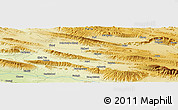 "Physical Panoramic Map of the area around 27° 48' 57"" N, 53° 37' 30"" E"