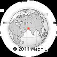 Outline Map of Washuk, rectangular outline