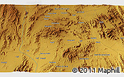 """Physical 3D Map of the area around 27°48'57""""N,66°22'30""""E"""