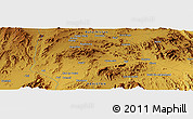 """Physical Panoramic Map of the area around 27°48'57""""N,66°22'30""""E"""