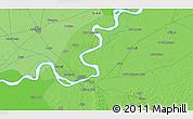 Political 3D Map of Sukkur