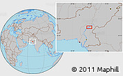 Gray Location Map of Sukkur