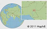 Savanna Style Location Map of Sukkur