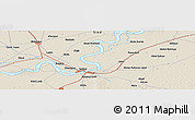 Shaded Relief Panoramic Map of Sukkur
