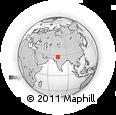 Outline Map of Meethari Marwar, rectangular outline