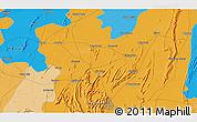 Political 3D Map of Kishangarh