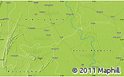 """Physical Map of the area around 27°48'57""""N,77°25'30""""E"""