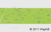"""Physical Panoramic Map of the area around 27°48'57""""N,77°25'30""""E"""