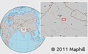 Gray Location Map of Alīgarh