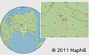 Savanna Style Location Map of Alīgarh